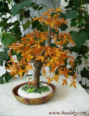 Деревья из бисера - Мои фотографии - Фотоальбомы - Деревья из бисера.