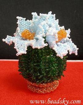 цветы из бисера кактусы - О том, как плести бисером.