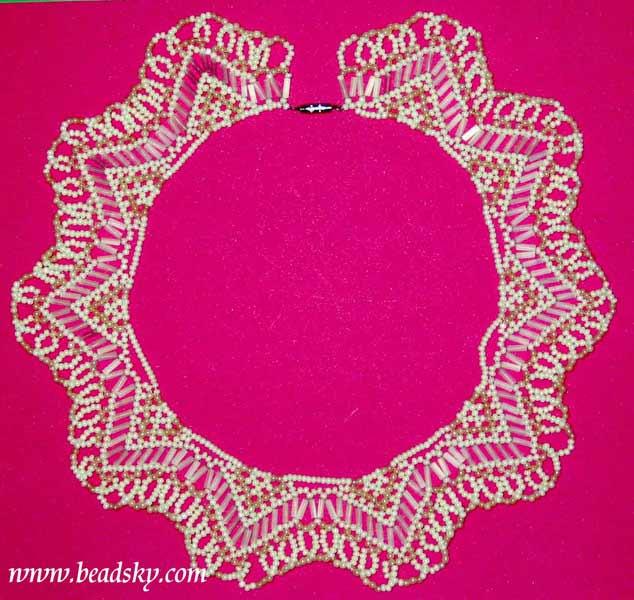 """Oжерелье -  """"Зимняя сказка """" модель Nr.  B30 Материалы: Бисер Вес: 40 гр. Доступное количество: 1 Размеры: ожерелье..."""
