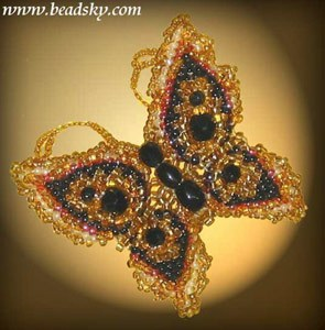 бисероплетение бабочки мастер класс
