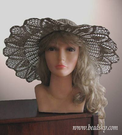 летняя ажурная шляпа шляпка крючком.
