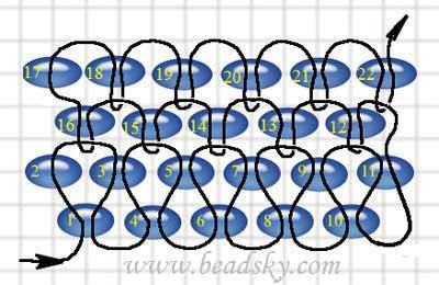 Схемы каринки плетение бисером кирпичиком.