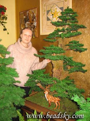 Автор: Admin Дата: 31.10.2013 Описание: Бонсай из бисера.  Мастер класс дерево бонсай своими руками.